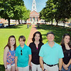 The Mayo family of Fitchburg on the Upper Common in the city. From left is Cassie Mayo, 18, Stephen Mayo, 11, Debbie Mayo, Steve Mayo and Caitie Mayo, 13. SENTINEL & ENTERPRISE/JOHN LOVE