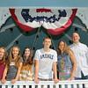From left to right is twins Kate & Emma Marinchev, 11,  Mika Saranovitz, 13, Logan Saranovitz, 15, Lynn Toomey, and Brian Saranovitz. SENTINEL & ENTERPRISE/JOHN LOVE