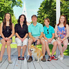 The Mayo family of Fitchburg siiting in the gazebo on the Upper Common in the city. From left is Caitie Mayo, 13, Debbie Mayo, Steve Mayo, Stephen Mayo, 11, and Cassie Mayo, 18. With them is their dog Foxy. SENTINEL & ENTERPRISE/JOHN LOVE