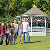 From left to right is twins Kate Marinchev, 11, Mika Saranovitz, 13, Emma Marinchev, 11, Logan Saranovitz, 15, Lynn Toomey, and Brian Saranovitz. SENTINEL & ENTERPRISE/JOHN LOVE