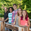 The Shenk Family, of Westminster. From left are  dad Jay, mom Jen, Adam, 14, Abigail, 16 and Erin, 11. SENTINEL & ENTERPRISE / Ashley Green