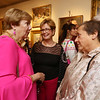 Annual fundraiser at Whistler House art museum. From left, Lowell city manager Eileen Donoghue, UMass Lowell chancellor Jacquie Moloney, and Deb Grossman of Dracut. (SUN/Julia Malakie)