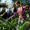 "Nicole Bookman, left, Cedar Eamonn and Emmette Manzella, help put together a door for the grass hut during class.<br /> Simon Harrison teaches a ""primitive skills"" class at Lion's Gulch, outside Pinewood Springs.<br /> For a video and more photos of the program, go to  <a href=""http://www.dailycamera.com"">http://www.dailycamera.com</a>.<br /> Cliff Grassmick / September 16, 2011"