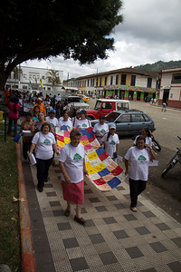 "The Matriarchs (wives, mothers and sisters of victims) led Pilgrimage XI held in Trujillo on August 25th, 2012 and took up the slogan: ""Path to memory in resistance and dignity."""