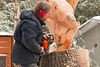 Robin Deruchie, Wolf Creek Carvings, Day 2