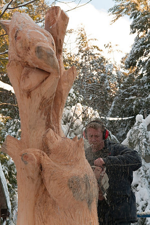 Robin Deruchie, Wolf Creek Carvings, Day 4