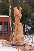 Robin Deruchie, Wolf Creek Carvings, Finished Carving