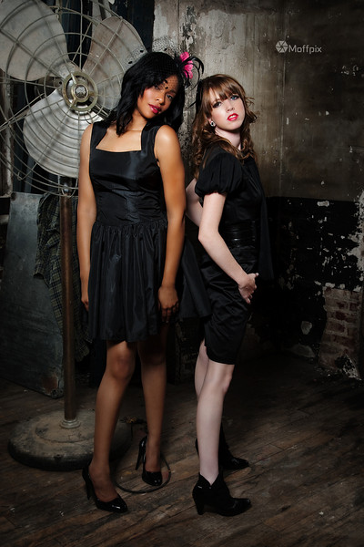 Models: Tanisha White and Kelsey Carpenter<br /> Hair: Candace Kennedy and Brook Hixson<br /> MUAs: Lori Hicks and Raysa Williams<br /> Wardrobe: Oblivion<br /> Wardrobe Design: Jolie Carrillo-Allen
