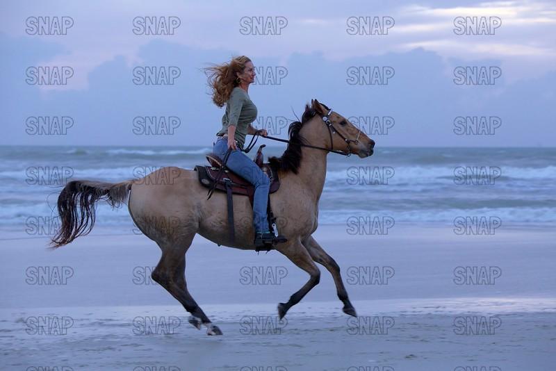 Riding A Horse On A Beach