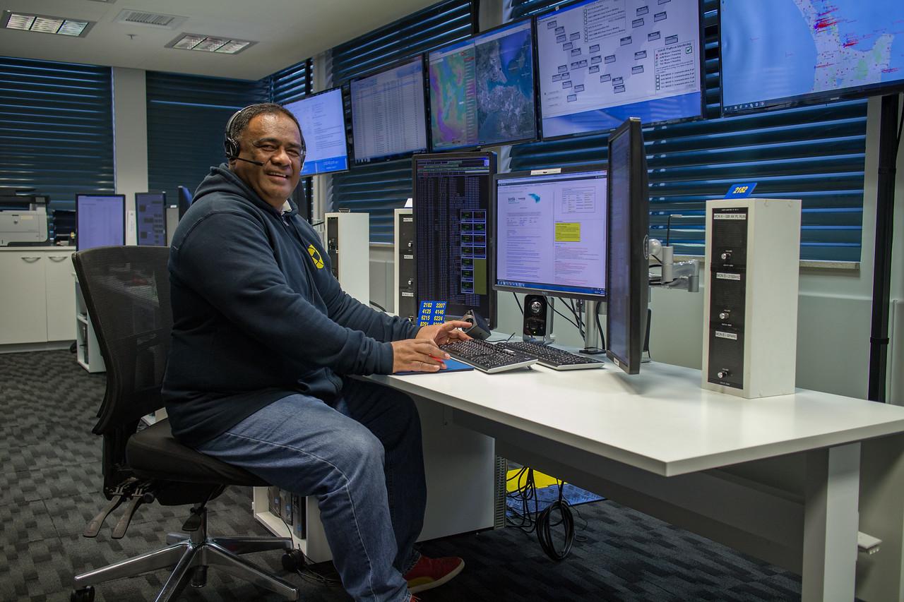Aisea Marine Radio Operator from Nukualofa Radio, Tonga who visited Taupo Maritime Radio/Maritime Operations New Zealand for several months in 2017