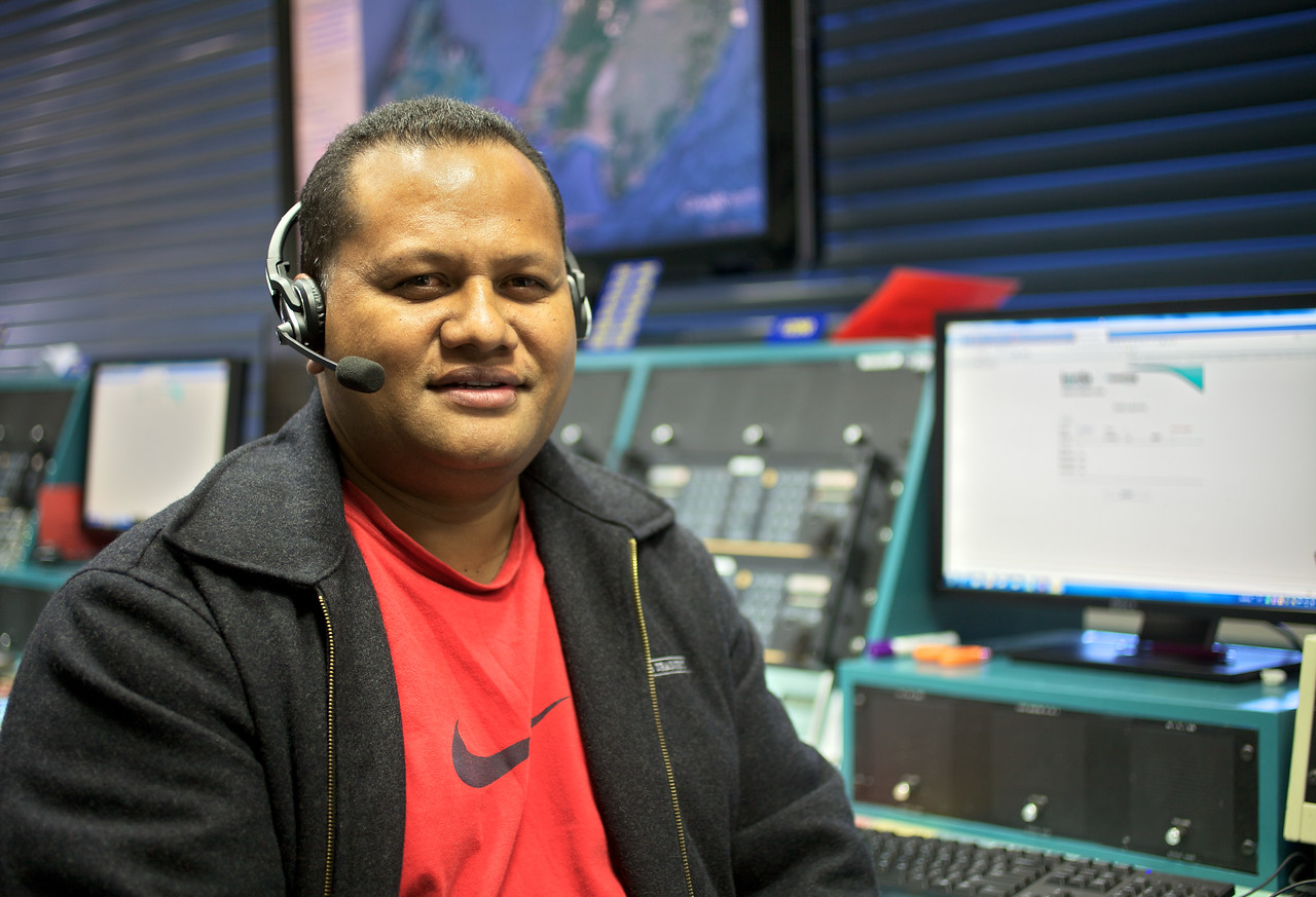 Enisi Maea Maritime Operations Centre New Zealand May 2012<br /> <br /> Enisi Maea, Marine Radio Operator from Nukualofa Radio, Tonga who visited Taupo Maritime Radio/Maritime Operations New Zealand for several months in 2012.