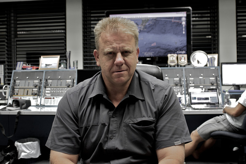 Tony at work at Kordia Maritime Operations Centre / Taupo Maritime Radio/ZLM Feb 2011