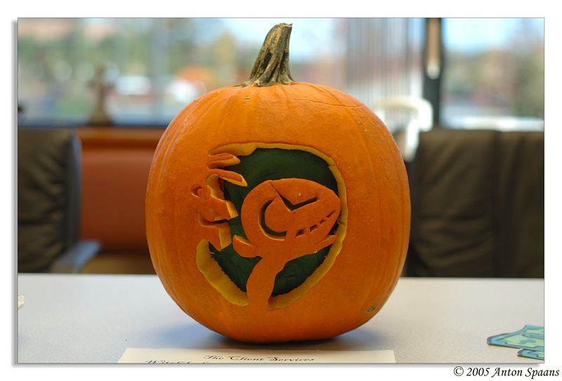 Pumpkin from Client Services<br /> (winner of the carvin' contest).