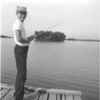 Fishing off the dock at Roberts Lodge