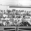 Lincoln School 6th grade class (names with a lot of help from Kathi Williams, et al)<br /> Row 1 – Roger Geyer, Pete Hamre, Eddie Baker, Alan Tvenge, Bruce P. Carlson, Kenny Borud, ?, Loren Headrick, Richard Davik, Gordon Wallace, ?, Doug White,  Bernie Saltvedt, Terry Stadick, ? ( think this might be Melvin Nygaard next to Bernie Saltvedt, not Terry Stadick).<br />  Row 2 - ?,Louise Paul, Rose something ?, X, Fern Ryan, Janice Zimmer, Dixie Revell, Robin Diamond, Linda Monagan, Mary Del Hurd, Judy Chambers,  ?, Margaret Stiles, Susan Charley<br /> <br /> Row 3 – Bob Williams, Clarence something?, Dennis Ryan, X, Sandra Totzke, Sharon Lynnes, ?, Donna Allen, Janet Klovstad, Chreyl Anderson, Dorcus Hovde, X, X, X, X, ?, ? (Bob & Joy ID'd: D. Ryan and C. Anderson)<br /> <br /> Row 4 – Mary Walstad, Kathy Moe, Remy Gran, Jane Gouin, Carolyn Matson, ?, Cheryl Mittlieder, ?, Dianne Haugen, Judy Hoyness, Joan Anderson, ?, Peggy Nordstrom, ?, Karen Olson, Kelly Freize, Larrel Berg, Darrel Elberg, Jim Wood (I think)?, Bucky Lee (Bob & Joy ID'd: Walstad, Cheryl Mittlieder, Hoyness, Frieze, Berg and Bucky Lee).