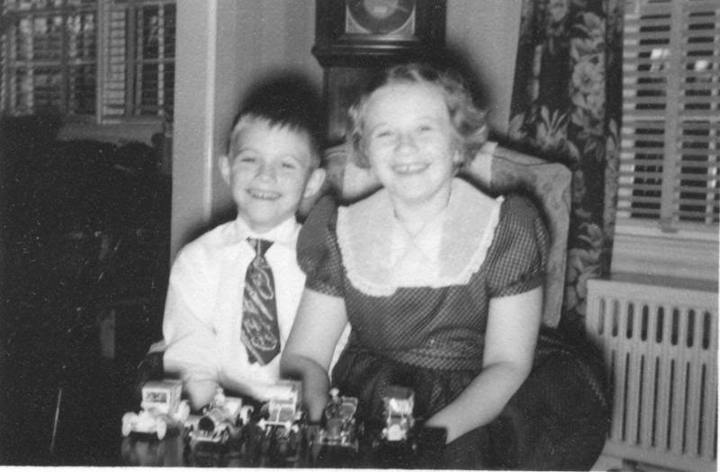 Christmas about 1950 Bob and Pat