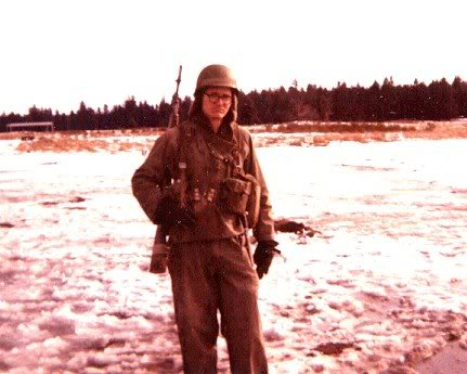 With M14 rifle at Fort Lewis