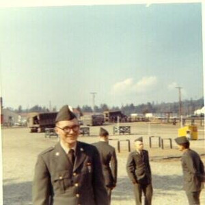 Graduating from army basic training at Fort Lewis, February, 1969