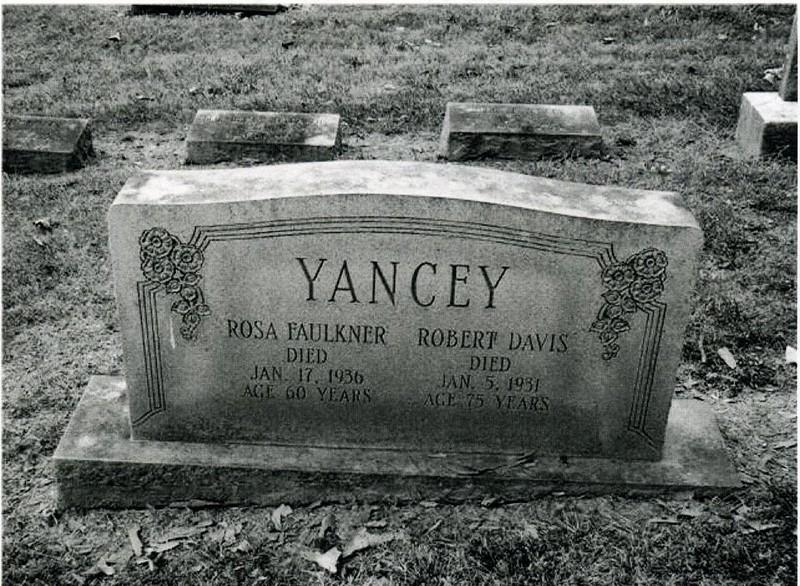 Headstone of Robert Davis and Rosa Faulkner Yancey (6017)