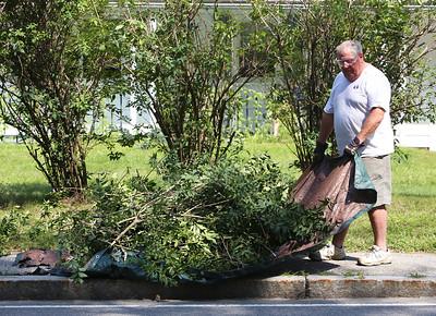 Yard work in Pepperell 082418