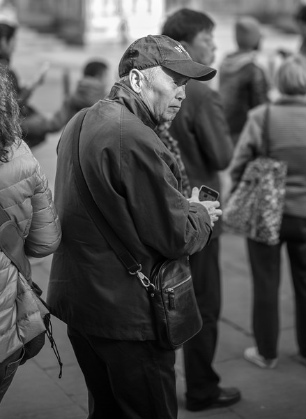 Man at York Minster - North Yorkshire 2016