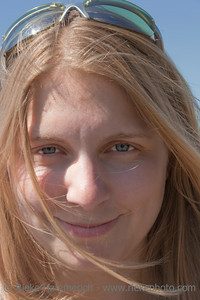 Young Woman Portrait with Hair blowing in Wind –Victoria, Vancouver Island, British Columbia, Canada