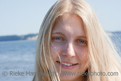 Young Woman Portrait on the Beach – Saanichton, Vancouver Island, British Columbia, Canada