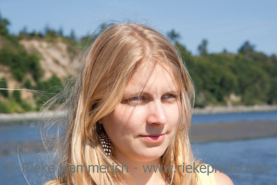 Young Woman on the Beach – Saanichton, Vancouver Island, British Columbia, Canada