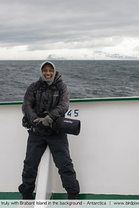 Yours truly with Brabant Island in the background - Antarctica