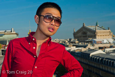 Paris, France, Young Chinese Man, Top of Printemps Department Store