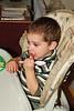 Enjoying some Christmas cake.