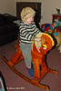 Riding the rocking horse.