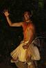 Dancing Rapa Nui warrior