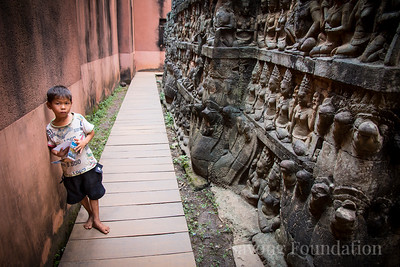 Begging Boy at the Temple