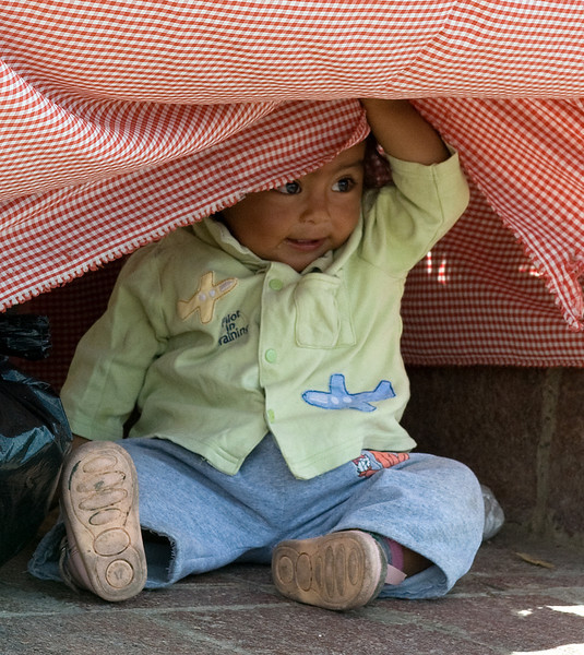 Peek a boo Child Guanajuato Mexico
