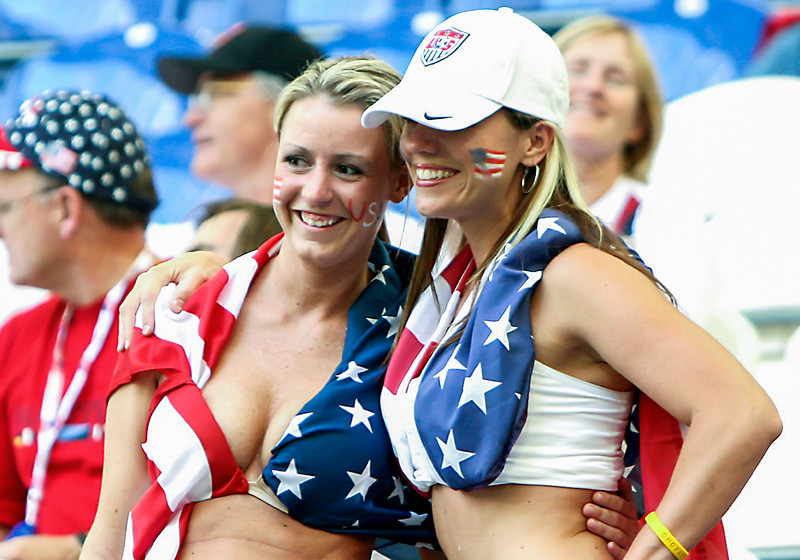 American fans at a World Cup match in Germany.