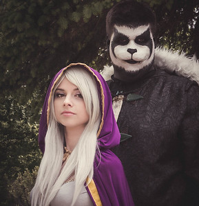 Elven Princess and man dressed as a Panda
