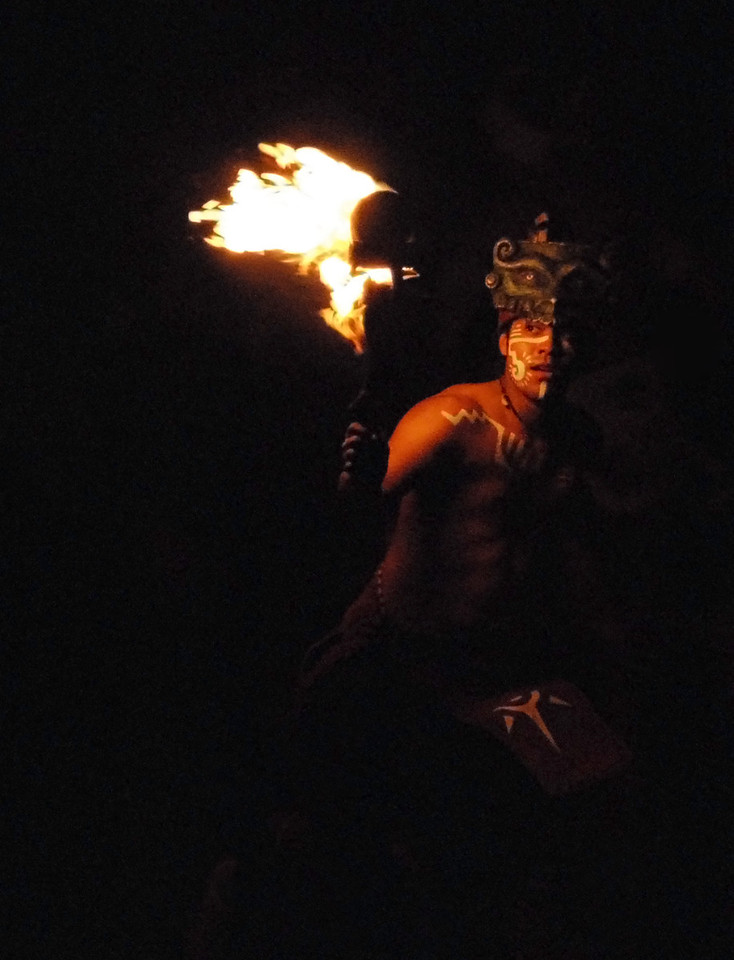 Fire Dancer Cancun Mexico