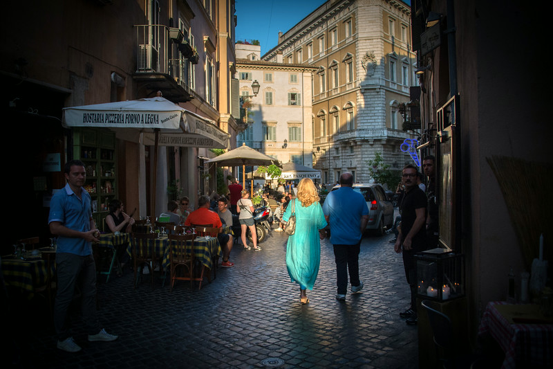 Late afternoon light on Via del Governo Vecchio, Rome, Italy
