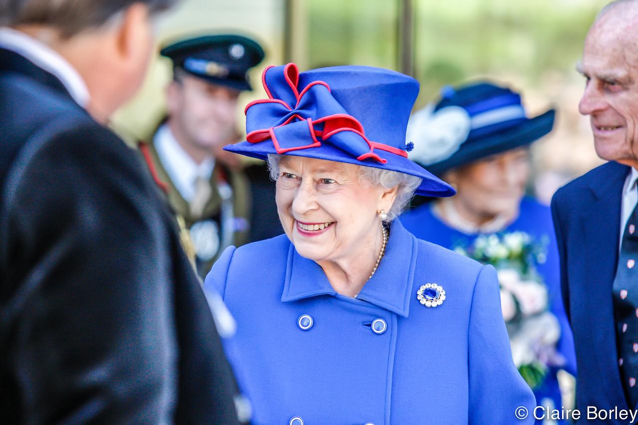 Queen Elizabeth II opening Sainsbury Building, Cambridge