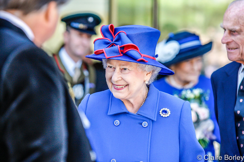 Queen Elizabeth II opening Sainsbury Building, Cambridge