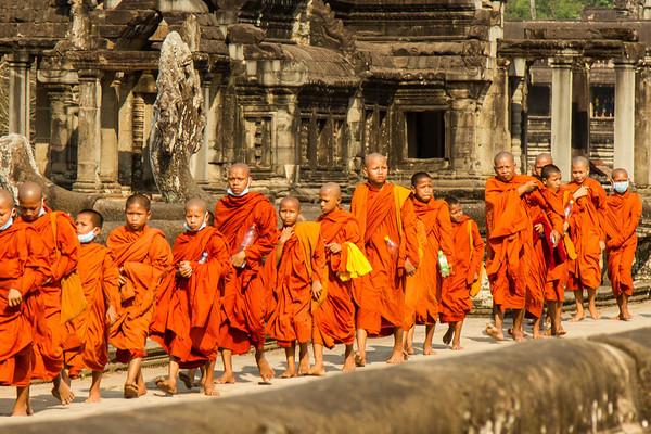 Young monks, Angkor Wat