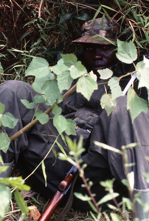 Guard, Bwindi Impenetrable Forest, Uganda