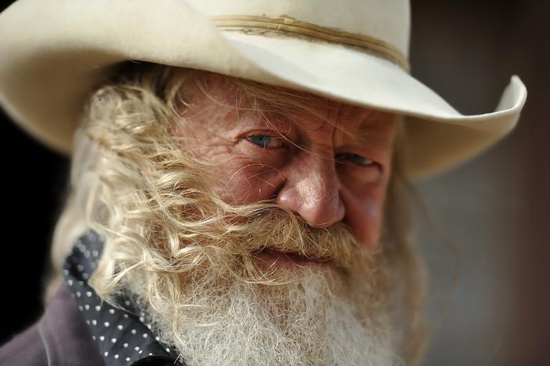 Cowboy in the Wind, Santa Fe
