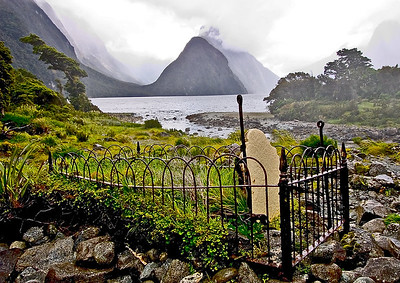 Grave- Milford Sound, New Zealand