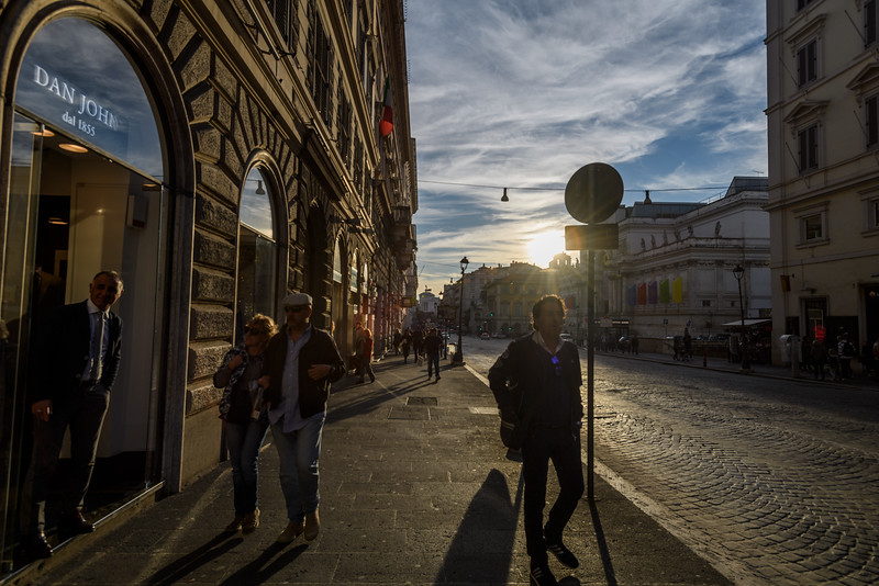 Late afternoon light on Nazionale, Rome, Italy
