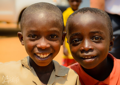 Headshot of playing kids - Burundi