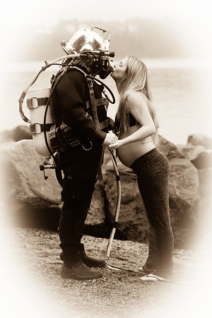 The mermaid and the diver
