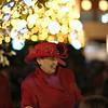 Fancy red hat lady