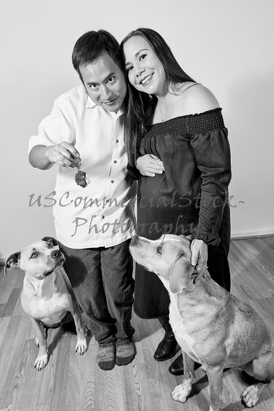 Married Couple with Two Dogs